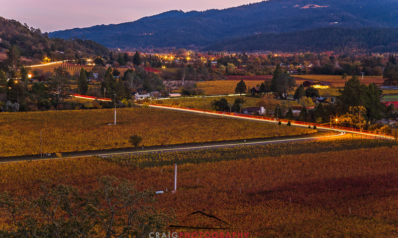 Napa Fall lights near Calistoga 2