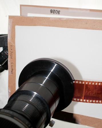 Camera scanning negatives and slides