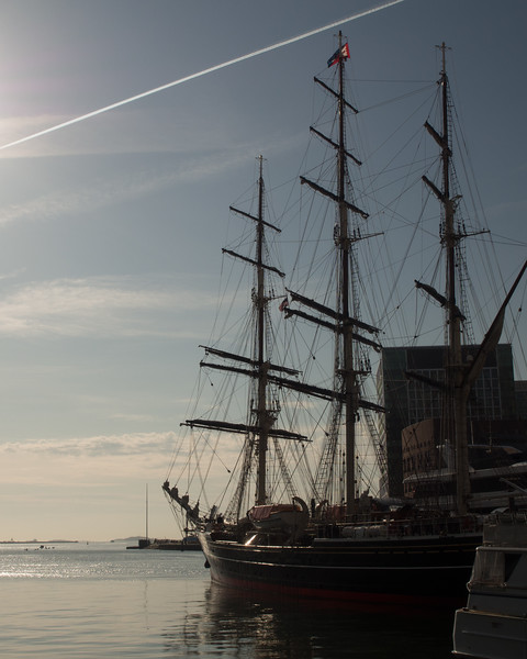 Unknown tall ship in Boston Harbor
