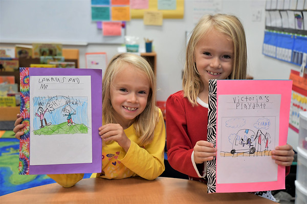 First-Grade Authors Celebrate their Finished Books