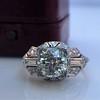 1.95ct Old European Cut Diamond Art Deco Ring, GIA L SI1 18