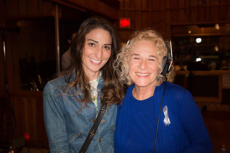 """Sara Bareilles and Carole King at the Broadway for Orlando benefit single recording of """"What the World Needs Now Is Love"""" - June 15, 2016 - Avatar Studios, NYC (Photo: Jeremy Daniel)"""