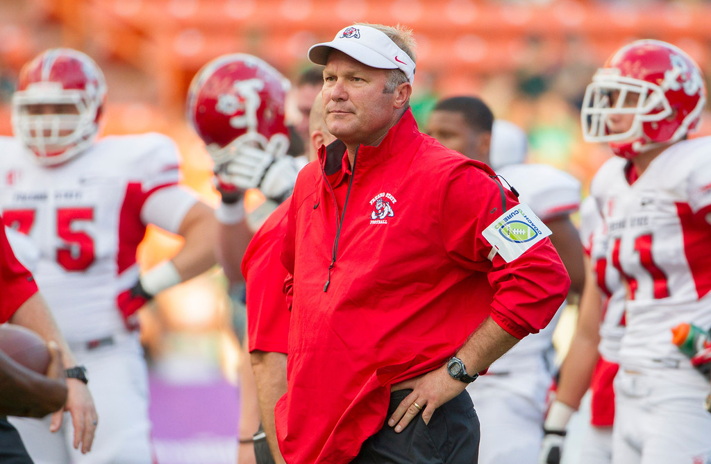 . <b>Tim DeRuyter</b> <br />Head coach, Fresno State  (Sept. 28, 2013,). (AP Photo/Eugene Tanner)