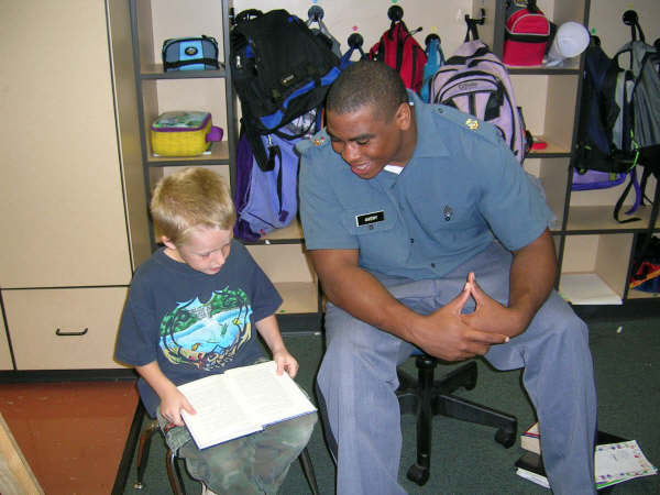 Cadets Tutor at Central Elementary