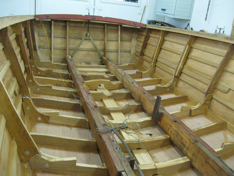 Inside looking at the transom.