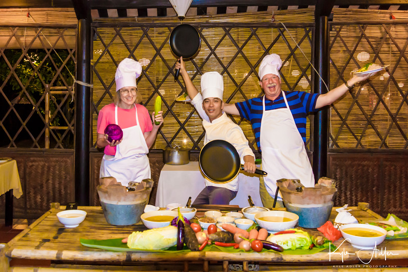 At our hotel in Hoi An we participated in a cooking class with a chef who would fit right in on the Cooking Channel.