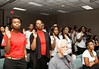 AmeriCorps members in Houston, Texas take the pledge on the 20th Anniversary of AmeriCorps. Corporation for National and Community Service Photo AmeriCorps 20th Anniversary