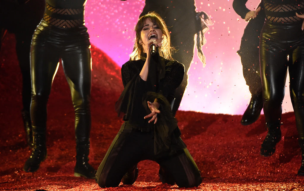 . Camila Cabello performs a medley at the Billboard Music Awards at the MGM Grand Garden Arena on Sunday, May 20, 2018, in Las Vegas. (Photo by Chris Pizzello/Invision/AP)