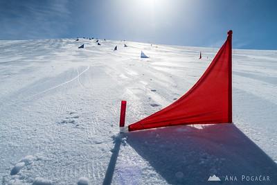 Skiing in Livigno, Italy - May 5, 2015