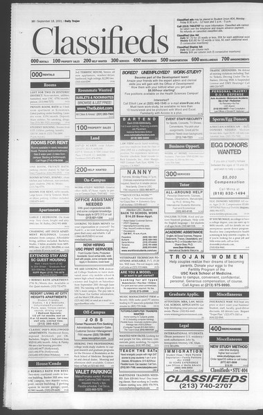 Daily Trojan, Vol. 144, No. 14, September 18, 2001
