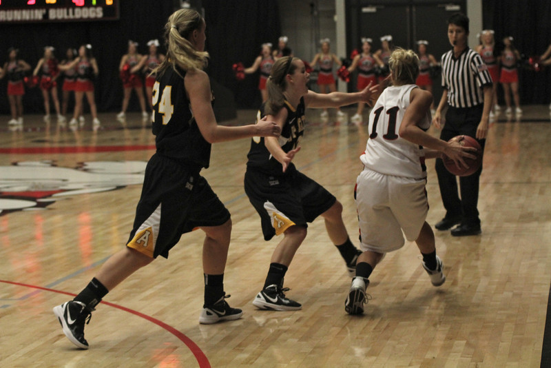 The Gardner-Webb Lady Bulldogs played in a tough game against Appalachian State.