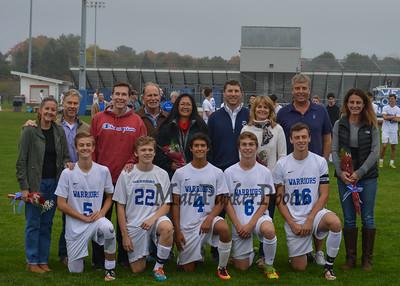 2016-10-18 WHS Boys Soccer vs Alvirne Senior Night