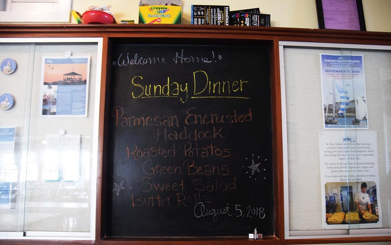 sunday dinner chalk board
