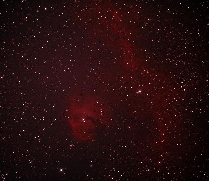 IC2177 - Gum 1 & 2 - Seagull Nebula - 26/12/2011 (Processed stack)