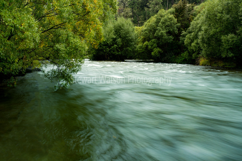 Fast moving Buller River
