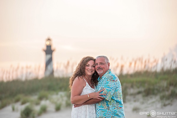 Lisa and Dave, 30th Anniversary, Cape Hatteras Lighthouse