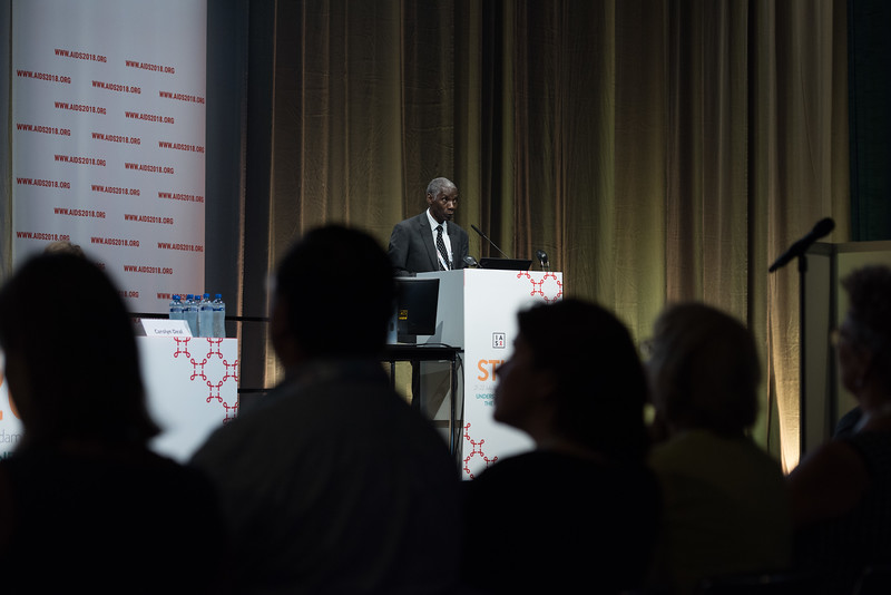 22nd International AIDS Conference (AIDS 2018) Amsterdam, Netherlands   Copyright: Marcus Rose/IAS  Photo shows: STI 2018. Speaker: Francis Ndowa. 'Epidemiology Low & Middle Income Countries'.