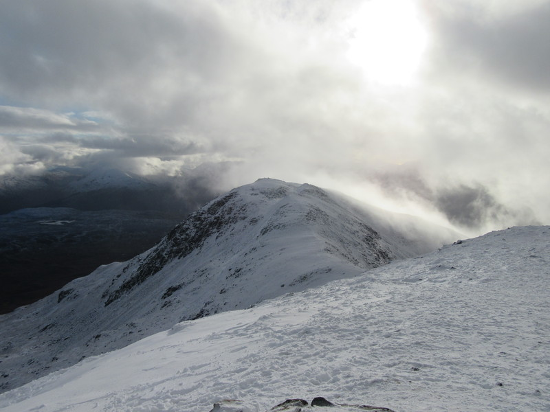 View from top to Stob Glas