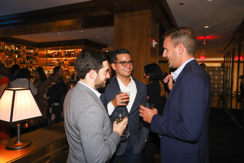 Cristian Becker, Fernando Machado, Kidd O'Shea. photo by Bruce Allen, Wolfgang Puck Opening Reception 2019