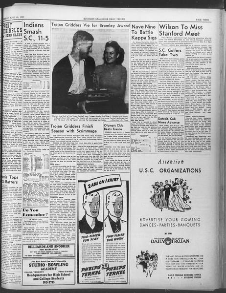 Daily Trojan, Vol. 30, No. 122, April 25, 1939