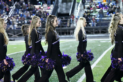 Laker Dance team at Lebanon football 11-15-19