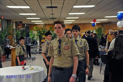 History Tribute Dinner for Veterans 11-9-13BroRoger, J StJohn12P & J Medici 11J