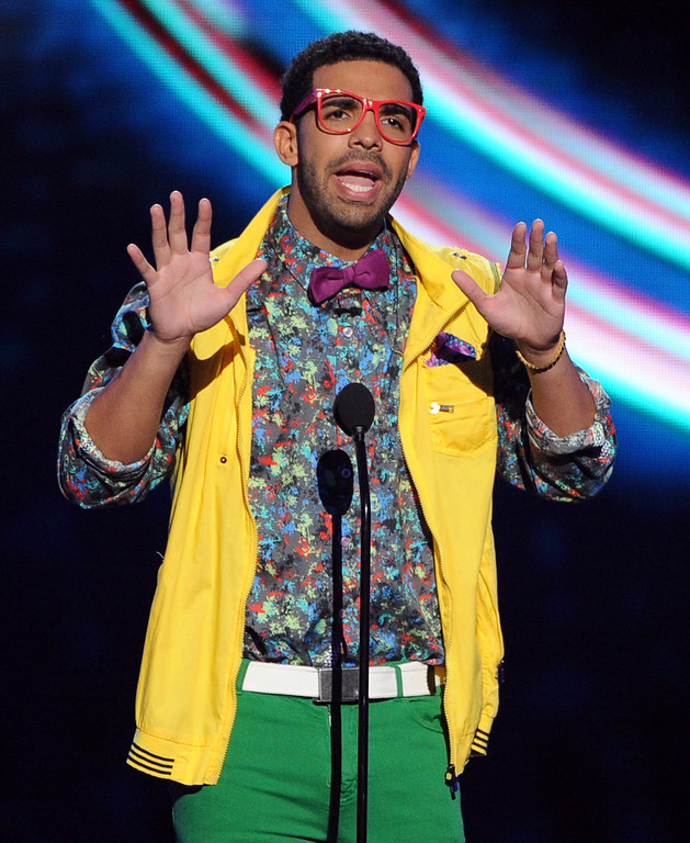 . LOS ANGELES, CA - JULY 16:  Host Drake speaks onstage during the 2014 ESPYS at Nokia Theatre L.A. Live on July 16, 2014 in Los Angeles, California.  (Photo by Kevin Winter/Getty Images)