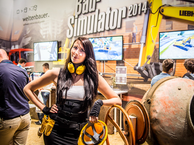Girl at Gamescom 2013