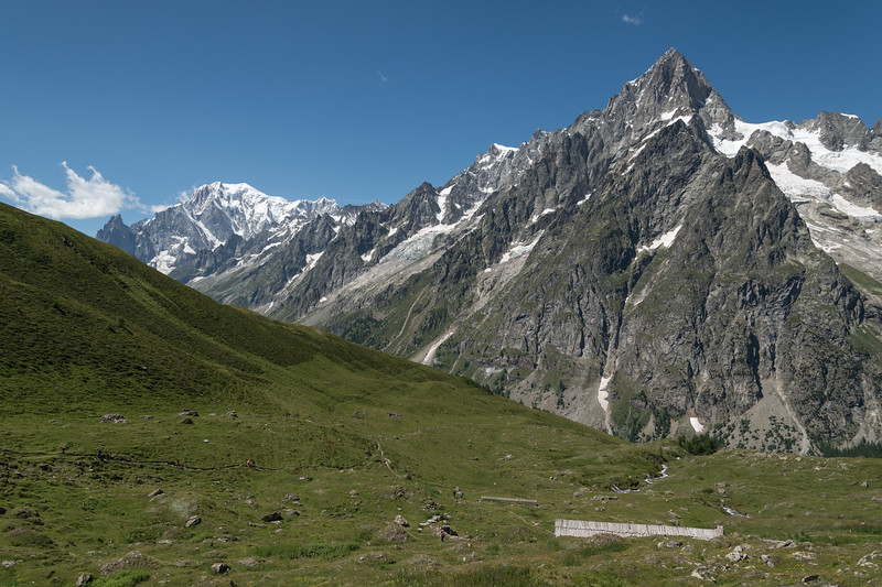Mont Blanc - Vallone di Malatrà, Courmayeur, Aosta, Italy - August 8, 2016