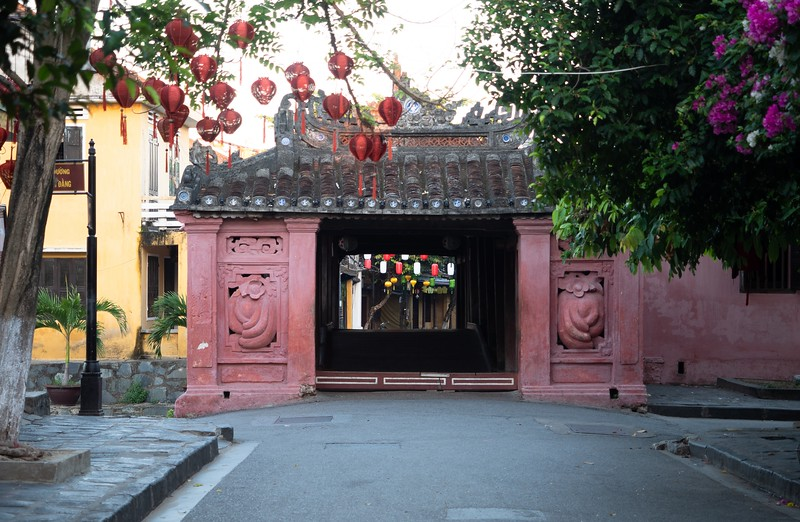 Japanese Covered Bridge Entrance in Hoi An Vietnam