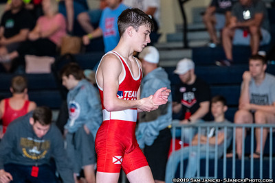 48kg - Land def Griffin - Semifinals - 2019 Cadet Freestyle WTTs