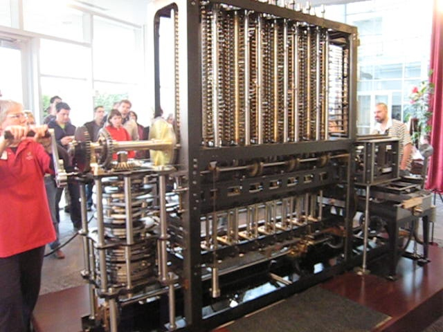 Back of difference engine