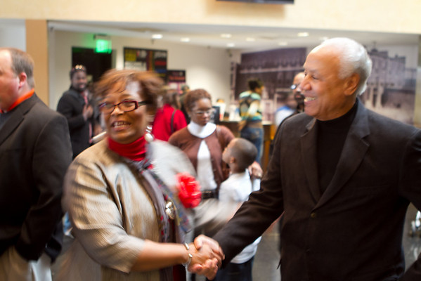 Lenny Wilkin and Willis Reed visit NCRM