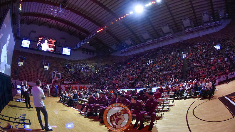 Approximately 2000 fans came to celebrate the basketball team and their NCAA Tournament bid. (Michael Shroyer/TheKeyPlay.com)