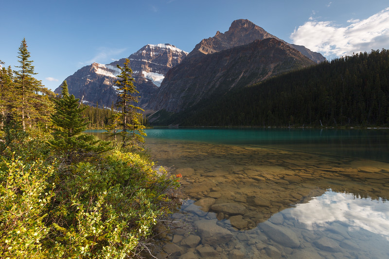 Cavell Lake, Jasper National Park. Alberta, Canada.