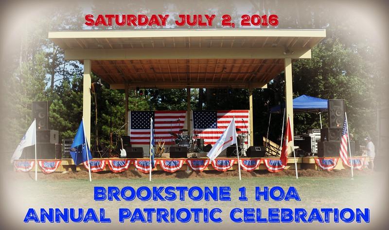 Brookstone 1 HOA  Patriotic Celebration 2016