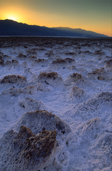 Salt crystals in the Devil's Golf Course, Death Valley National Park