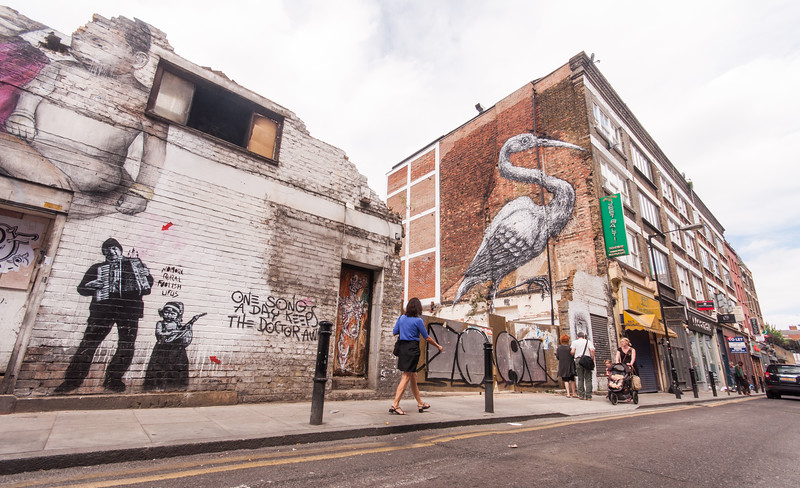 Hanbury Street murals in London's East End