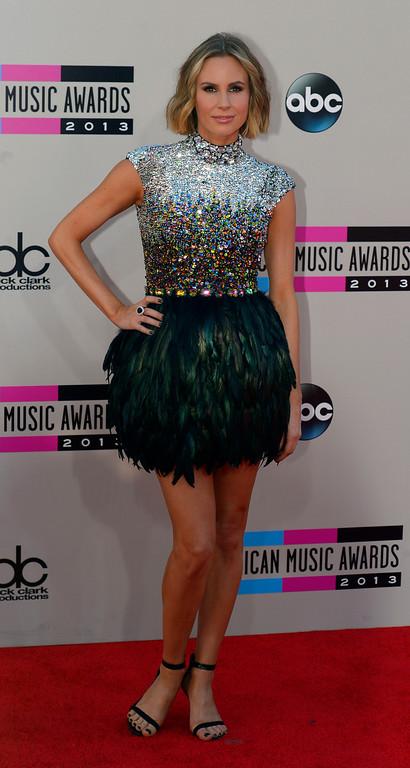 . Keltie Knight arrives to the American Music Awards  at the Nokia Theatre in Los Angeles, California on Sunday November 24, 2013 (Photo by Andy Holzman / Los Angeles Daily News)