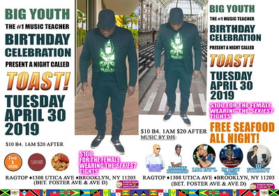 "BIG YOUTH / BLACK UNIVERSE ""TOAST BIRTHDAY BASH 2019""(0)"