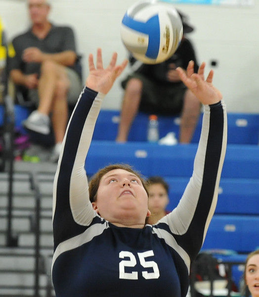 The Rochester Falcons defeated the Berkley Bears in straight sets 25-20, 25-13, 25-18 in the OAA White match played on Tuesday September 19, 2017 at Rochester HS.  (Oakland Press photo by Ken Swart)