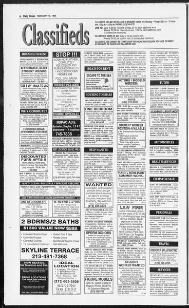 Daily Trojan, Vol. 124, No. 23, February 15, 1995