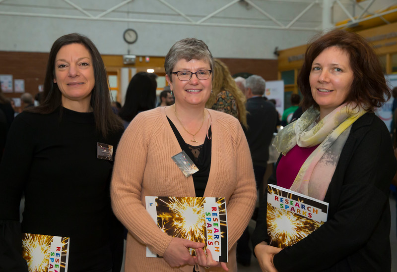 22/02/2018. Research Sparks in Waterford Institute of Technology. Pictured are Bridget Knowles, Jacintha Byrne Doran and Noleen Dooley. Picture: Patrick Browne
