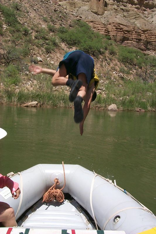 Alex Jumping off   (May 29, 1999, 12:20pm)