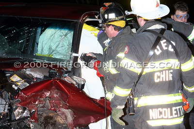 Roosevelt Dr. Extrication (Derby, CT) 2/3/06