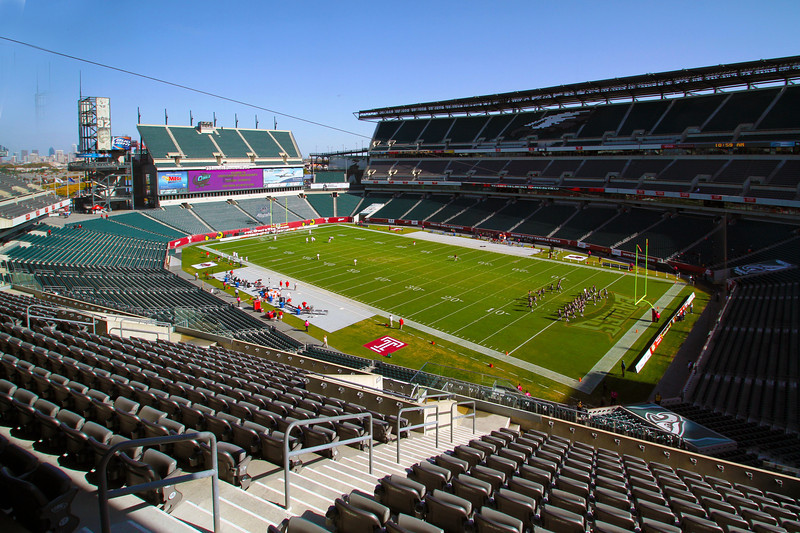 Lincoln Financial Field before the game