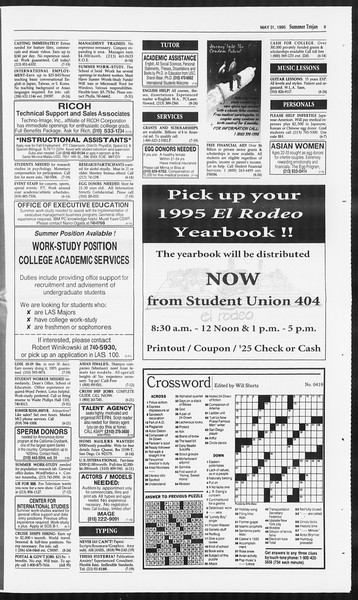 Summer Trojan, Vol. 125, No. 3, May 31, 1995