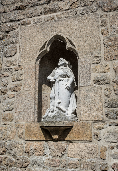 The abbey isn't the only church on the Mont.  The much-smaller Parish Church of St. Peter was built in the 11th century.  Joan of Arc is the parish's patron saint and her statue guards the church door.