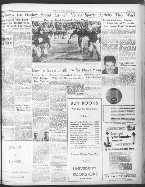 Daily Trojan, Vol. 28, No. 58, January 04, 1937
