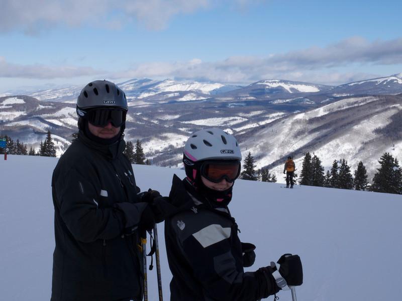Chuck and Andi atop Vail